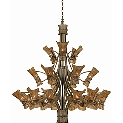 @Overstock - This elegant Bali 21-light, three tier chandelier showcases a tropical bronze finish with coffe-tinted Piastra glass shades. This chandelier includes 60 inches of chain and 120 inches of wire.http://www.overstock.com/Home-Garden/Bali-Tropical-Bronze-21-light-Entry-Chandelier/6032939/product.html?CID=214117 $1,589.99