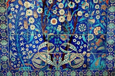 the deep intense blues of Iznik tiles,