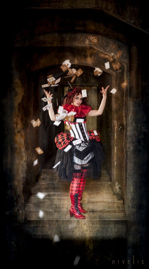 photo - Nivelis Sumire playing with cards, dark #circus steampunk victorian