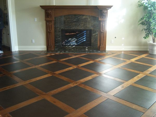 Combining two natural elements never crossed my mind! But the wood and tile combination is gorgeous!