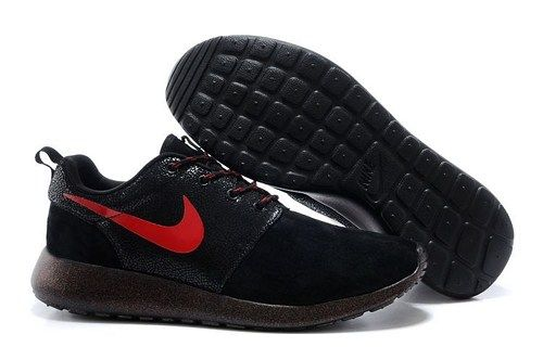2014 roshe run 511882 220 black red men running shoes