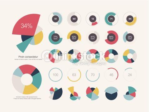 ベクトルアート : Infographic Elements Pie chart set icon