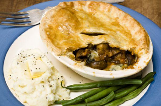 Simon Rimmer's peppered mushroom and Stilton pie