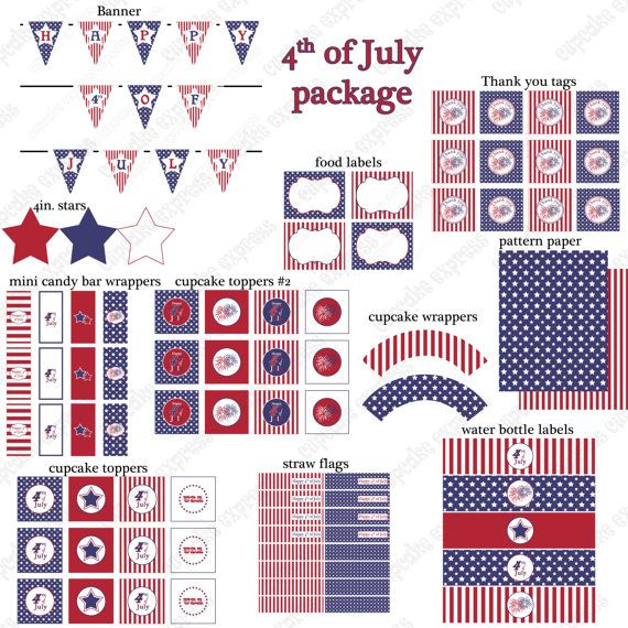 SALE+Sale++DIY+4th+fourth+of+july++PRINTABLE+by+CupcakeExpress,+$5.00
