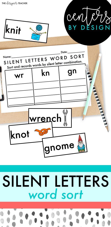 Centers By Design Silent Letters Sort Kn Gr Wr Trigraphs Dge