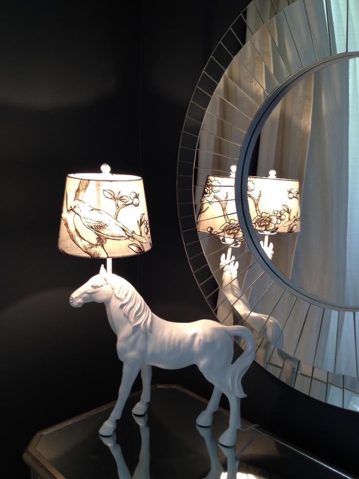 Vintage Blossom fabric as a lamp shade via Redelman.com #HowYouDwell