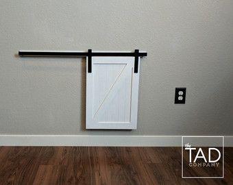 MINI BARN DOOR // Sliding Door // Farmhouse Chic // by TADcompany