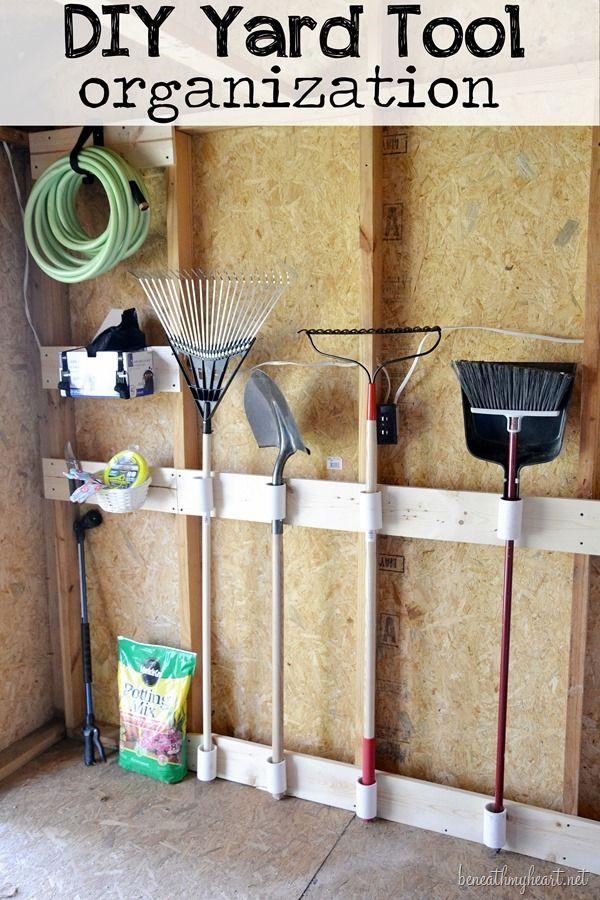 DIY Yard Tool organization #3M DIY