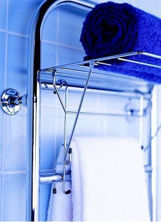 スウェーデンのタオルウォーマー 壁掛け・置き型タイプ 洗面所にタオル ... タオルラック付タオルウォーマー 価格 40,900円(税別) 送料込み