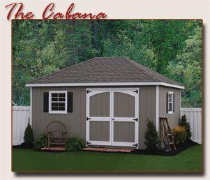 hip roof cabana storage shed - Garden Sheds Galore