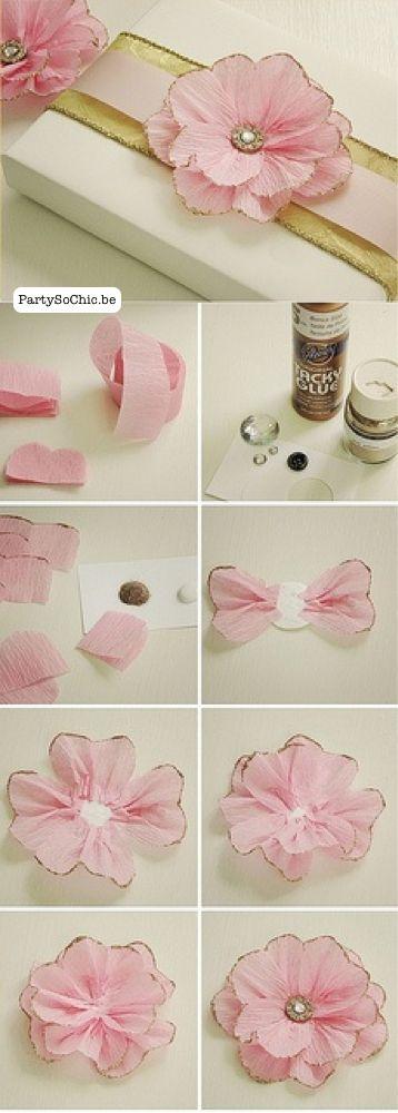 D.I.Y. Petites fleurs en papier crepon - Party so Chic