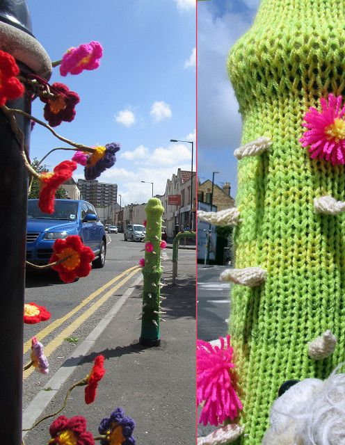 'Urban knitting' at its best in Bristol, UK.