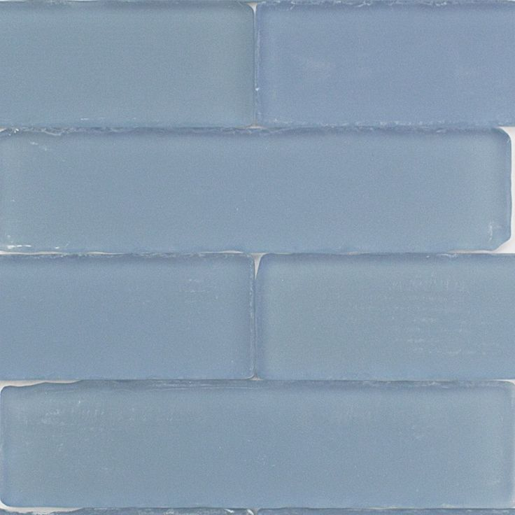 Coastal Rain 2x8 Beached Frosted Glass Tile Glass Subway
