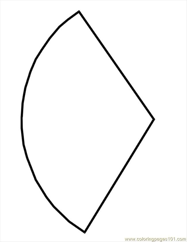 Free Printable Coloring Image Cone Shape Template