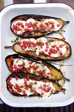 Eggplant with Buttermilk Sauce Recipe | Epicurious.com