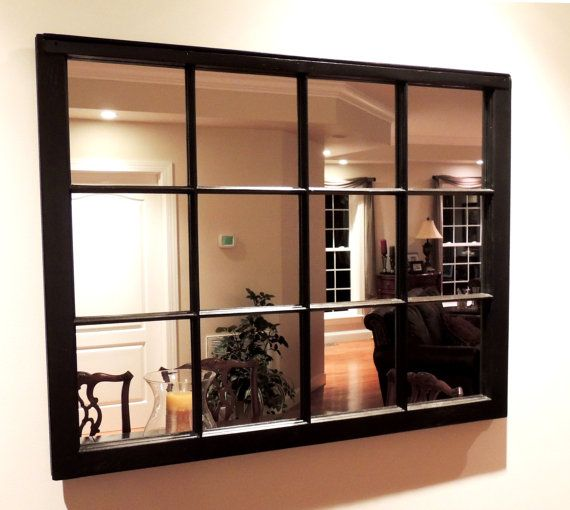Elegant 12 Pane Window Frame Mirror 40 Inches By