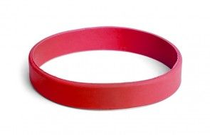 Red solid color or custom printed silicone rubber wristbands for events