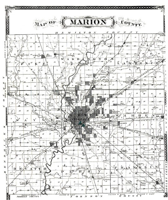 Indiana Native Plants: Archaeological Map Of Marion County, Indiana With