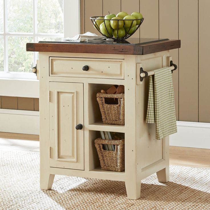 Harris Farmhouse Kitchen Cart Cabinet