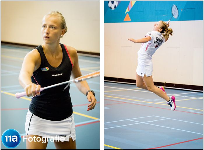 Eefje Muskens & Selena Piek - Sportfotografie Badminton - Papendal Arnhem - 11A Sportfotografie