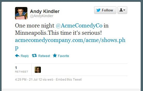 Andy Kindler Camps Out in Minny for a Week