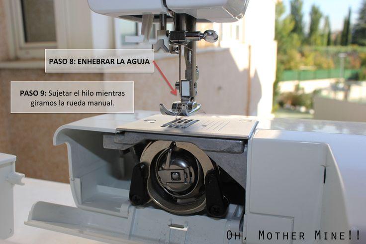 Clases de costura 3: Cómo enhebrar la máquina de coser.   Manualidades