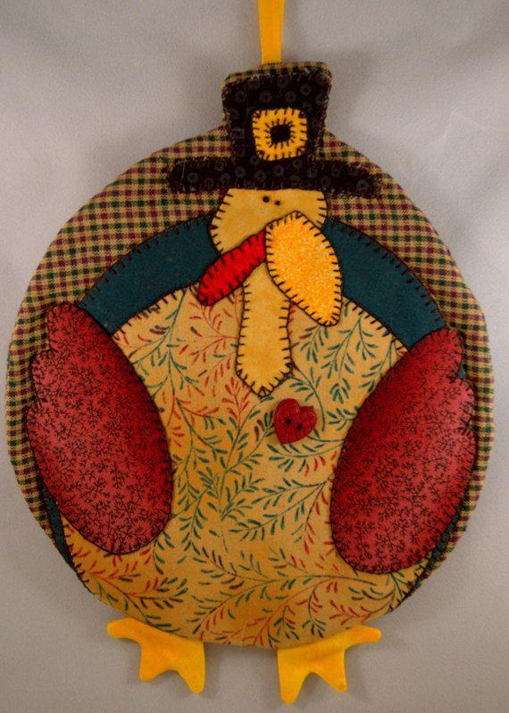 Thanksgiving Turkey Mug Rug by QuiltinCats on Etsy, $ 9.50