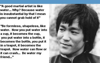 FAMOUS BRUCE LEE'S BE LIKE WATER WATER QUOTE | Bruce Lee: 5 Reasons He's the Biggest Influence in MMA | Bleacher ...