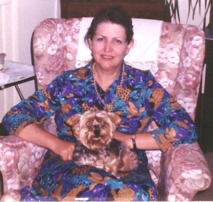 Me and Anne's dog, Bonnie. (1990)
