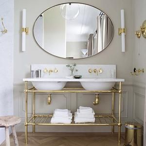 Gold Vessel Sinks - Eclectic - bathroom - The World of Interiors