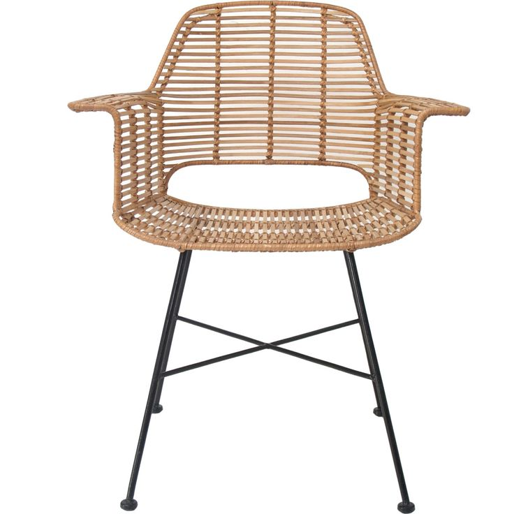 Rattan Tub Chair with Armrest • WOO Design