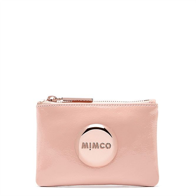 Mimco small pink rose gold pouch $69.90