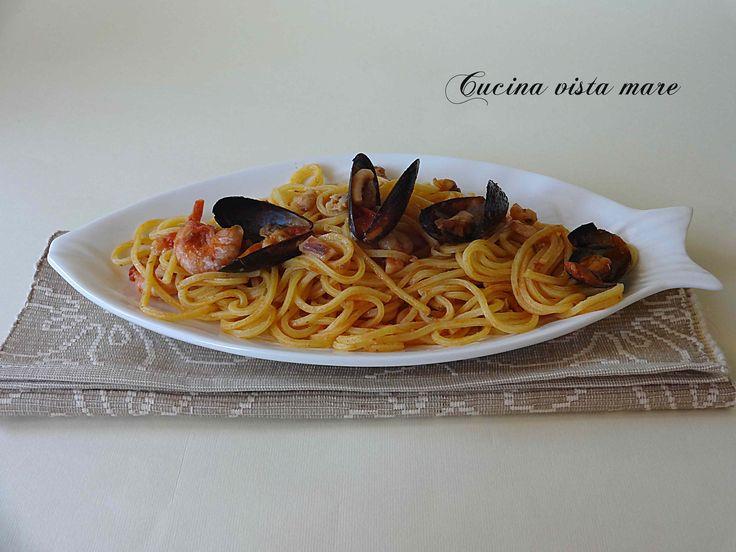 Spaghetti+alla+chitarra+con+frutti+di+mare