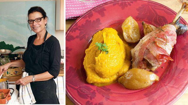 VIDEO. La pintade aux citrons confits de Sophie et sa purée potimarron-châtaignes