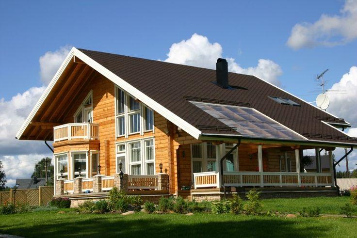 Timmerhus från Finland: modell Scandinavia wooden house
