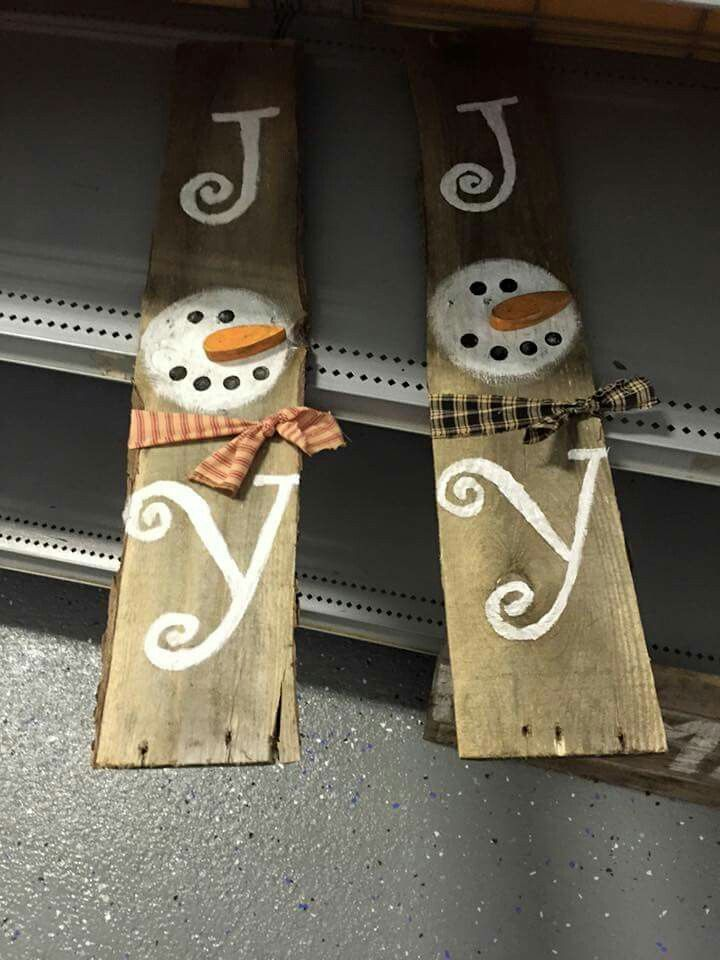 teds-woodworking.... Make it yourself diy woodworking crafts Snowman pallet…