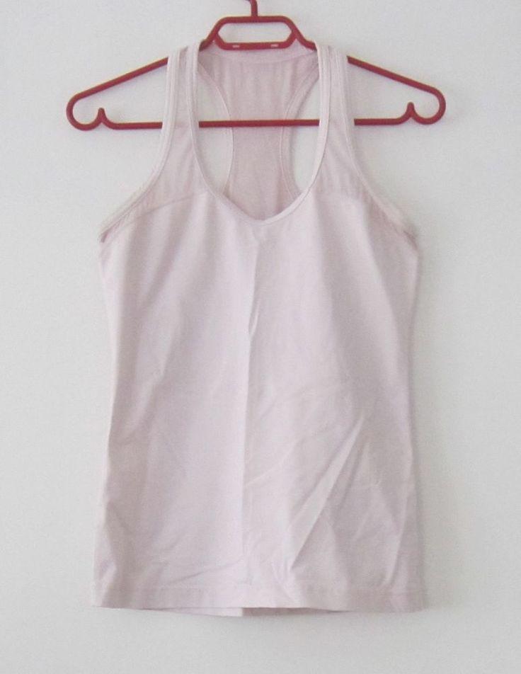 Lululemon pale pink racer back yoga fitness tank top 8 #Lululemon #ShirtsTops