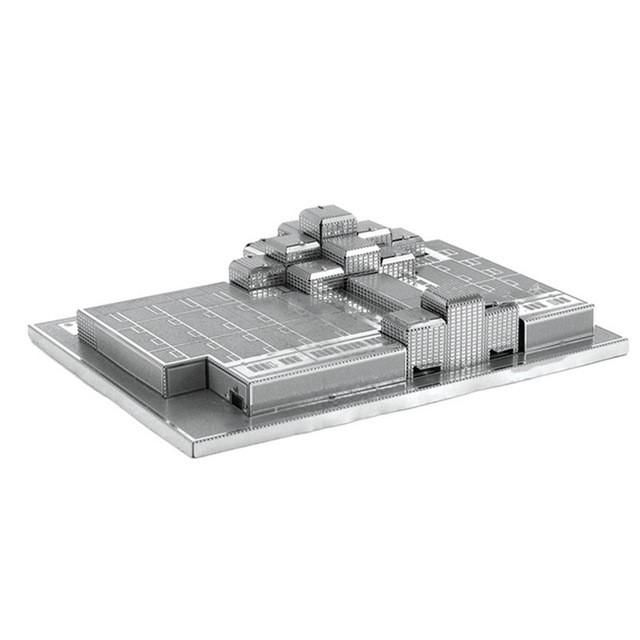 Finger Rock 3D Metal Puzzles World Famous Architecture Series Tokyo Tower Mayan pyramid Model For Age 14+ Home Decoration