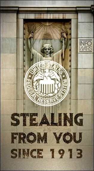 the federal reserve system stealing from you since 1913 learn the truth because there's a war on for your mind!