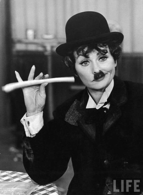 Lucille Ball, as Charlie Chaplin (photographed by Ralph Crane)