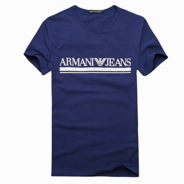 Armani Jeans Mens Solid Color Short Sleeved Crewneck Tee Shirts-021 (US$  55.65