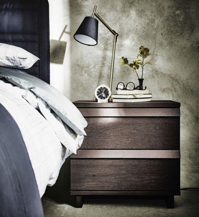 Vintage Sypialnia w kolorze szarym fot mat pras Ikea