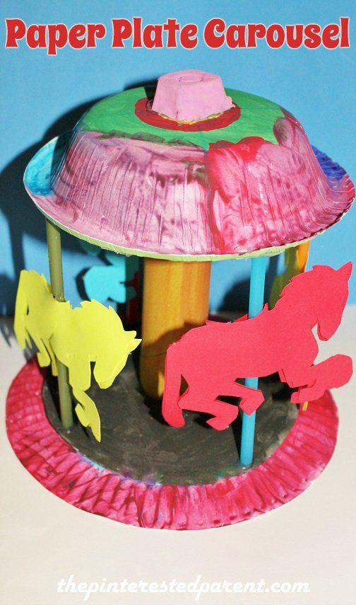 Paper Plate Carousel Craft