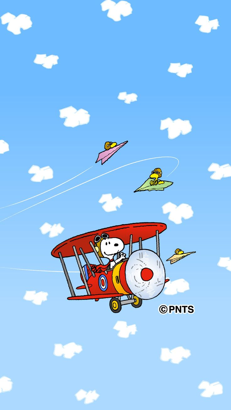 Snoopy & Woodstock after the Red Baron
