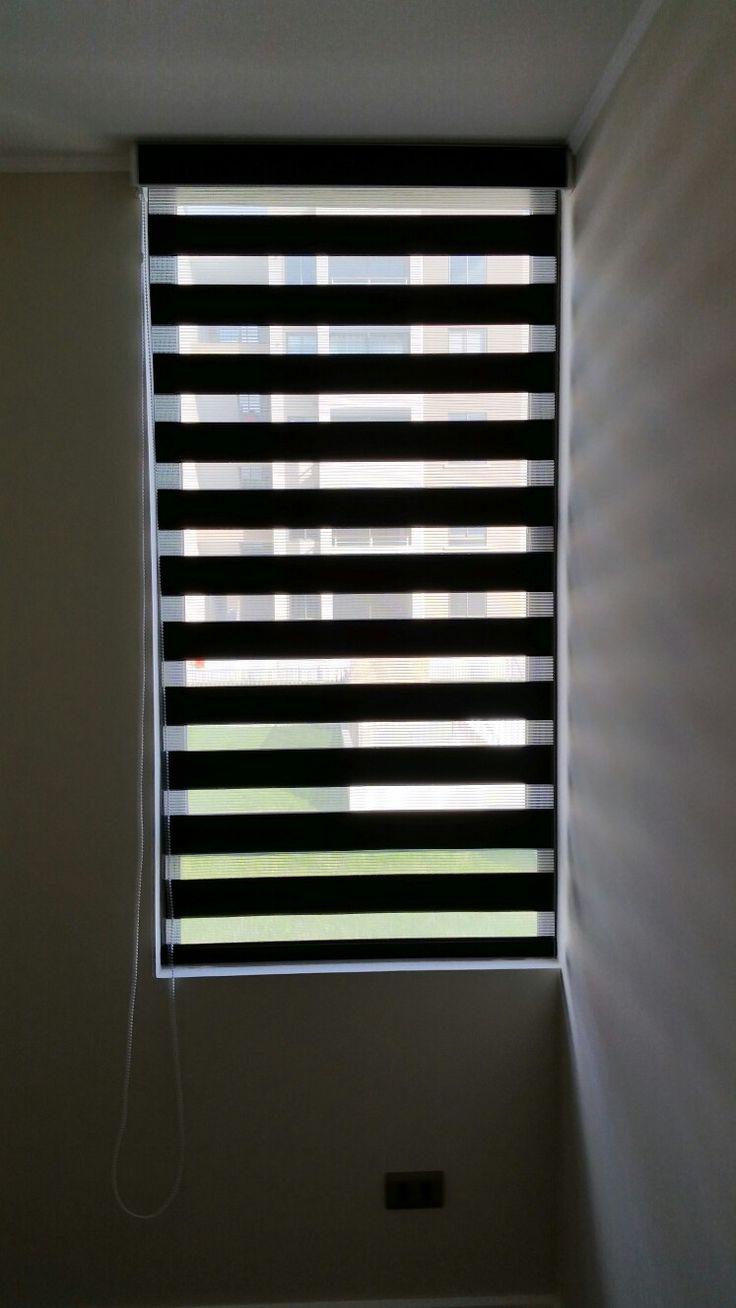 Venta e instalación cortinas roller. Modelo imagen Roller Duoscreen