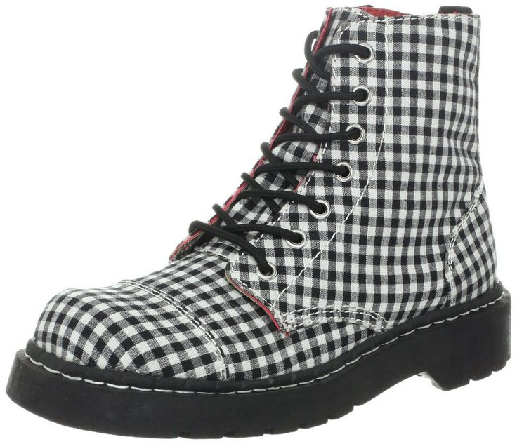 Anarchic by T.U.K Gingham Ankle Boot