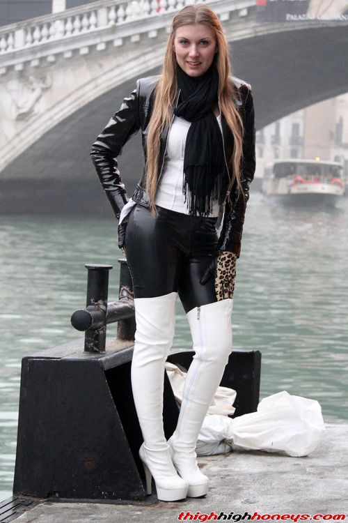 Ladies In Thigh High Leather Boots - Yu Boots