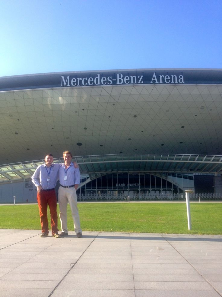 Harry and I at our internship at Mercedes-Benz Arena, China's premier performance venue! CET Studies and Internship in Shanghai. @cetstudyabroad