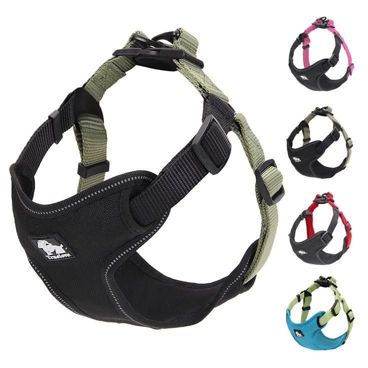 Reflective Front Range Pet Dog Harness Chest Protective Vest Outdoor Adventure #Unbranded
