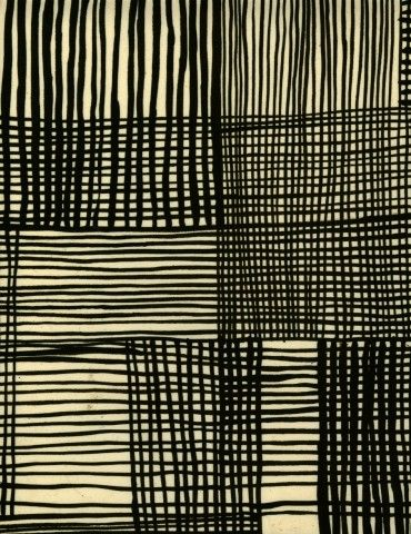Printed Textile designer Luli Sanchez from her monotone series #textiles #fabric #pattern